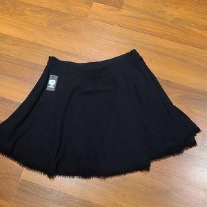 Vince Camuto sheer black circle skirt size 10